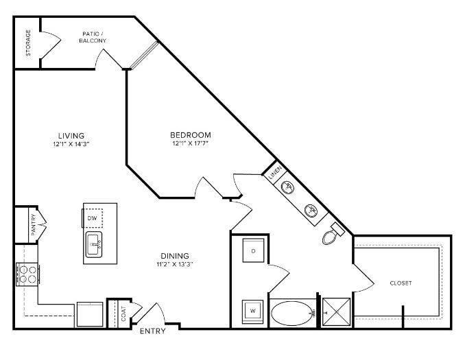 A 2D drawing of the A8 floor plan