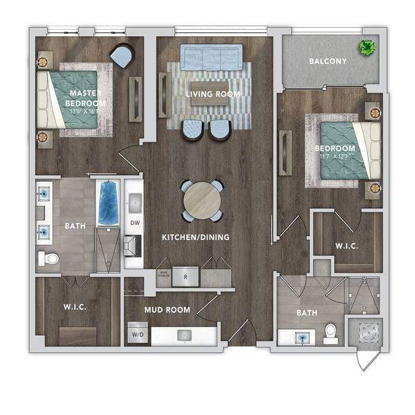 A 2D drawing of the B9 floor plan