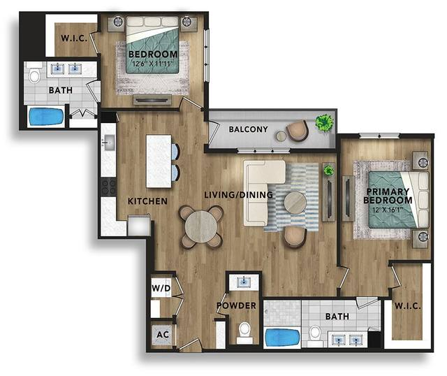 A 2D drawing of the B7 floor plan
