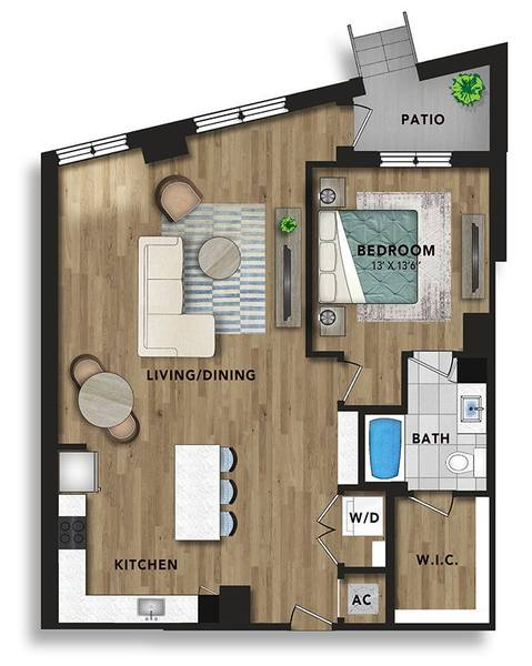 A 2D drawing of the AG4 floor plan