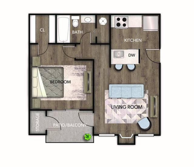 A 2D drawing of the Iris floor plan