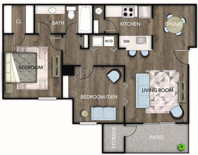 A 2D drawing of the Dahlia floor plan