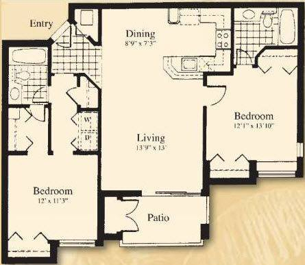 A 2D drawing of the The Barbados floor plan