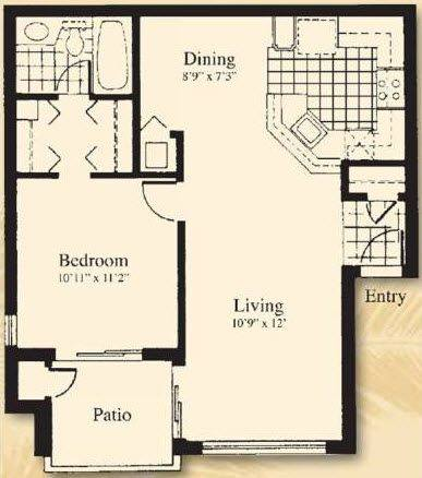 A 2D drawing of the The Antilla floor plan