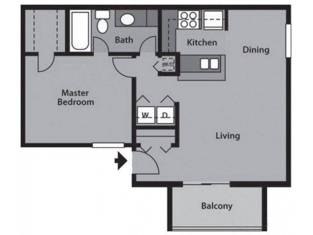 A 2D drawing of the A1 Partial floor plan