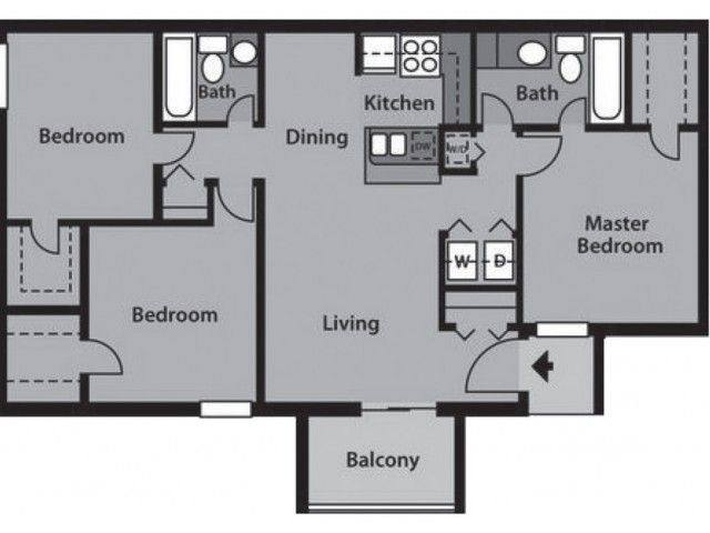 A 2D drawing of the C1 Partial floor plan