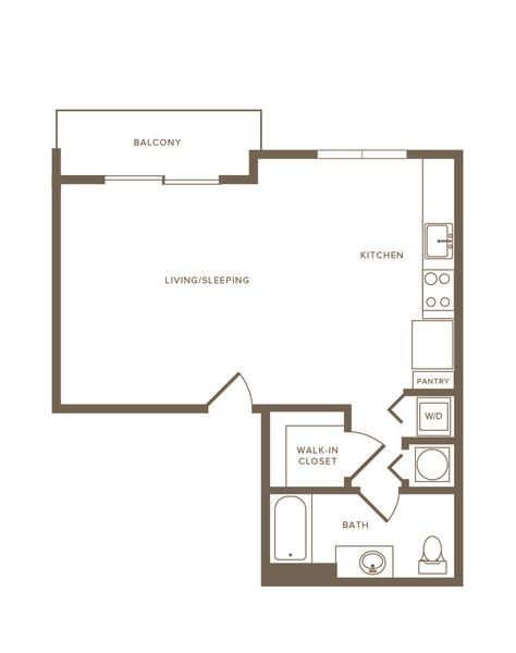 A 2D drawing of the S08 floor plan