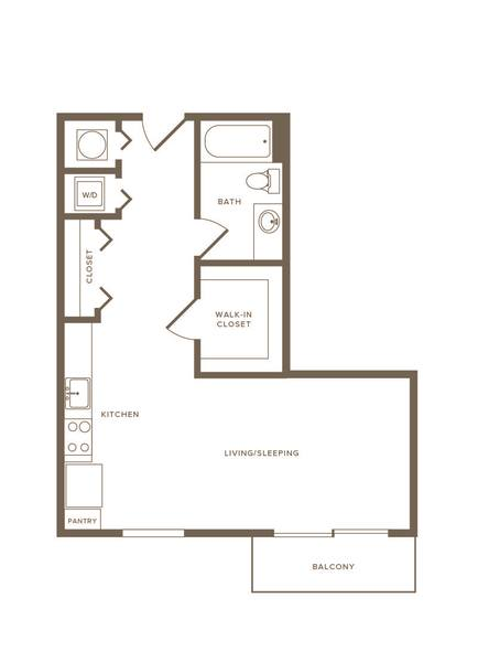 A 2D drawing of the S03 floor plan
