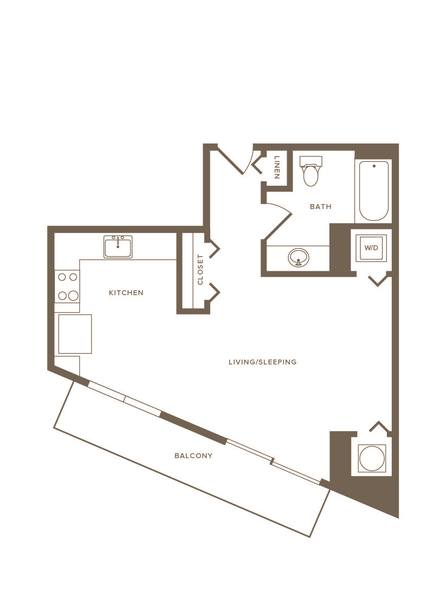 A 2D drawing of the S04 floor plan