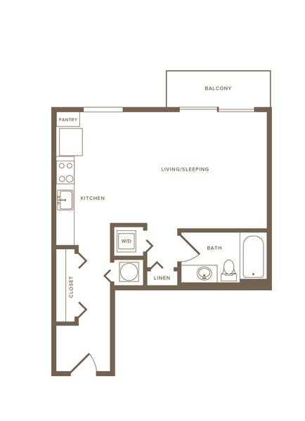 A 2D drawing of the S02 floor plan