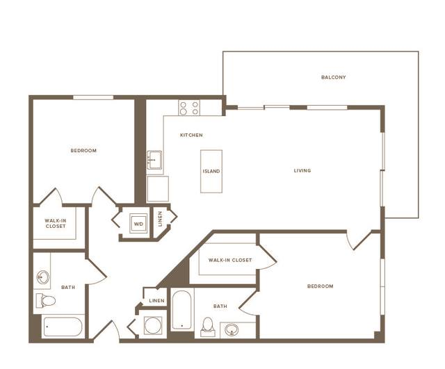 A 2D drawing of the B04 floor plan