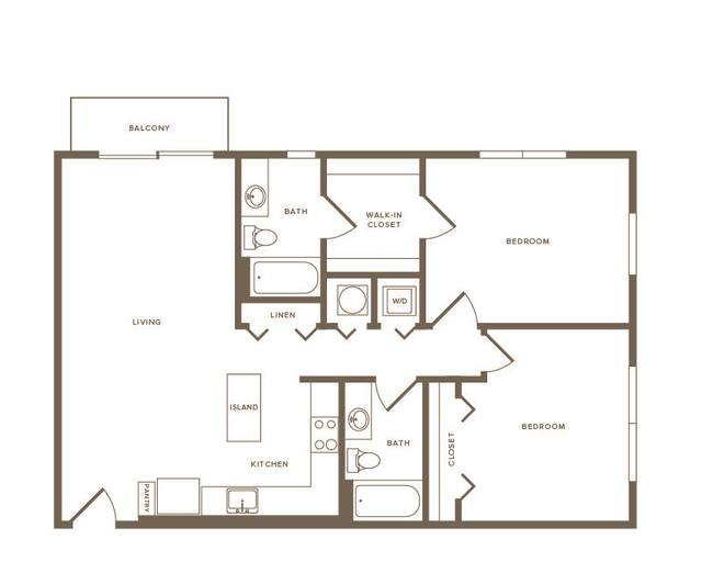 A 2D drawing of the B07 floor plan