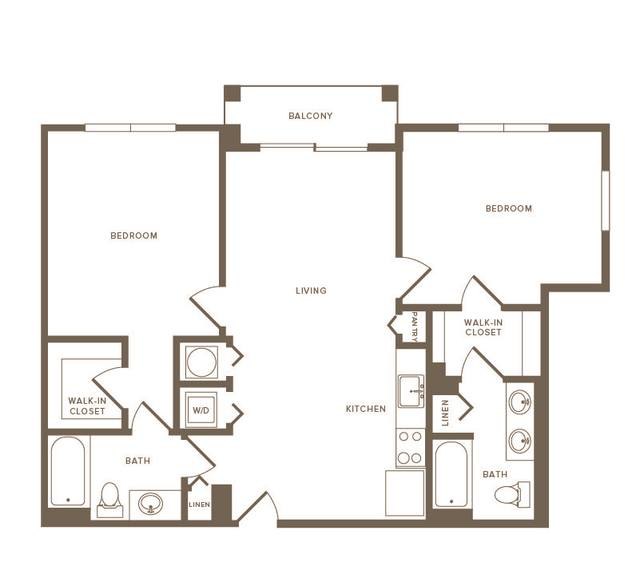 A 2D drawing of the B01 floor plan