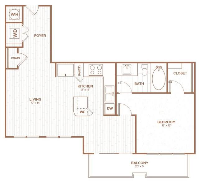 A 2D drawing of the A2B floor plan