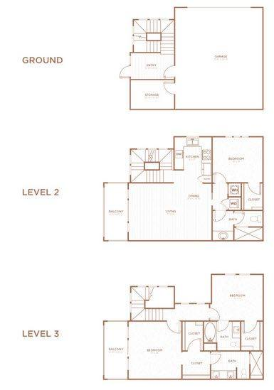A 2D drawing of the THA floor plan