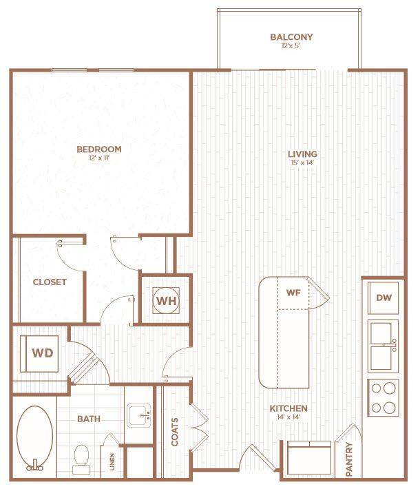 A 2D drawing of the A2G floor plan