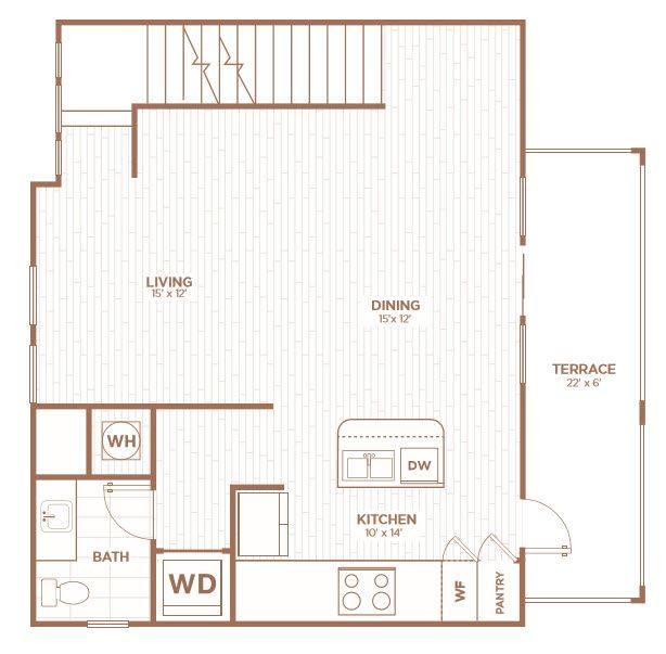 A 2D drawing of the THC floor plan