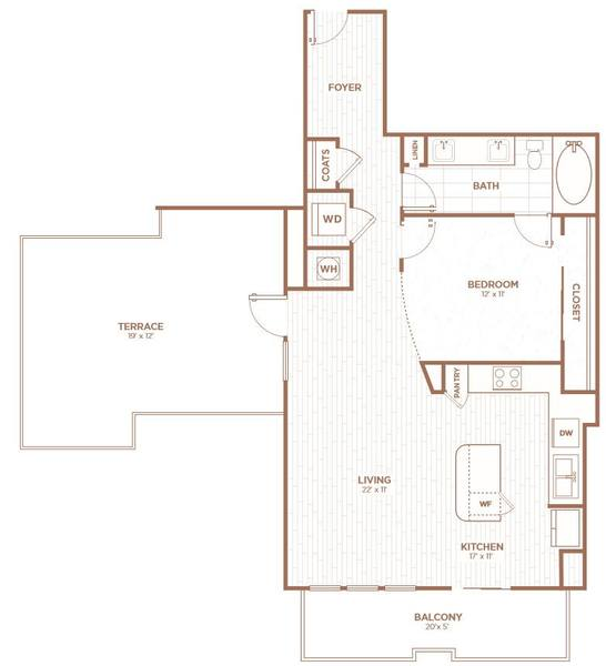 A 2D drawing of the A2Ja floor plan