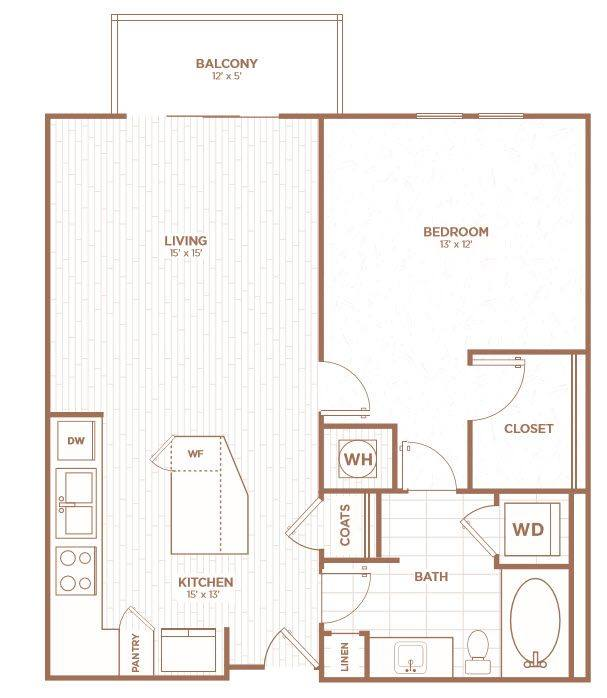 A 2D drawing of the A2F floor plan
