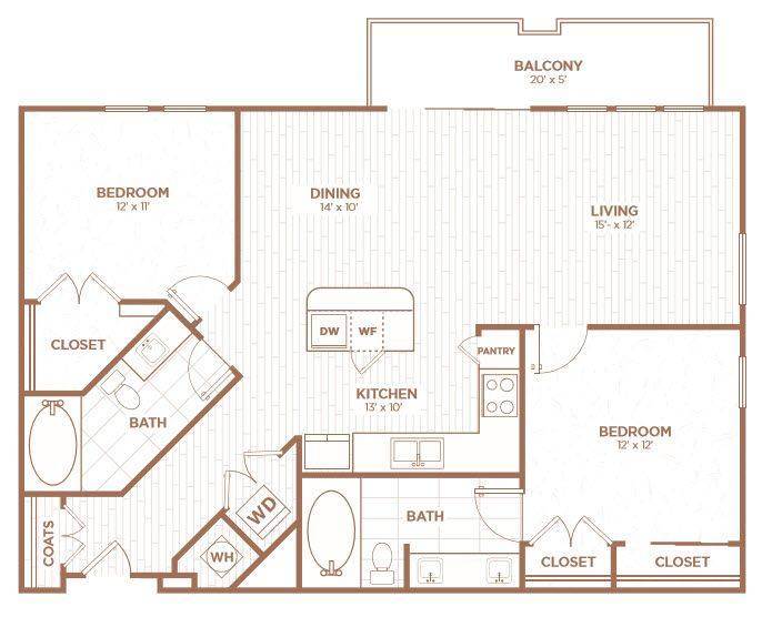 A 2D drawing of the B2E floor plan