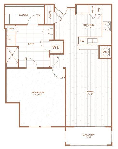 A 2D drawing of the A1H floor plan