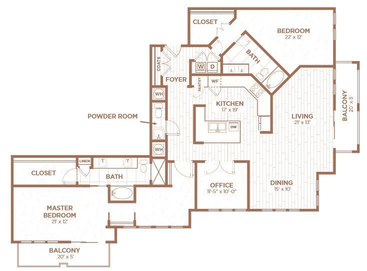 A 2D drawing of the C1C floor plan
