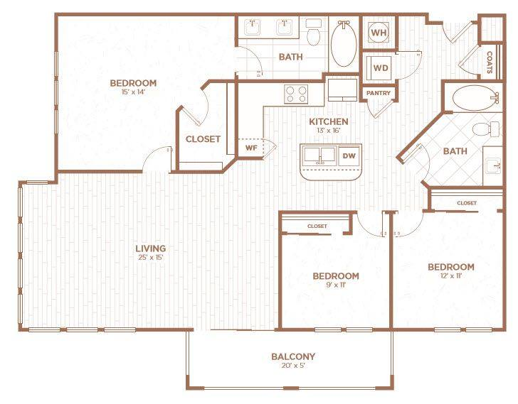 A 2D drawing of the C1B floor plan
