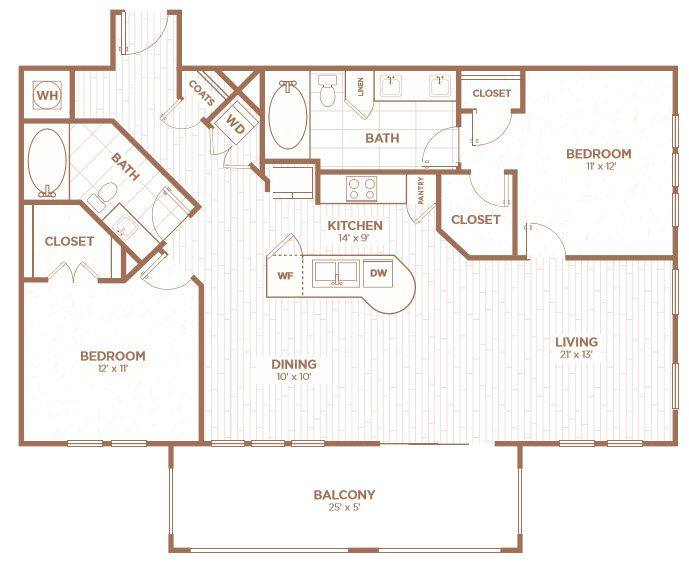 A 2D drawing of the B2G floor plan