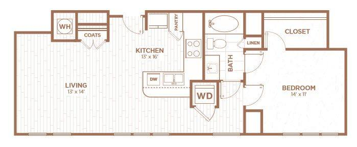 A 2D drawing of the A2C floor plan