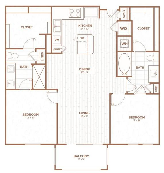 A 2D drawing of the B1F floor plan