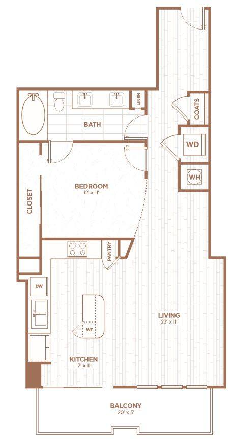 A 2D drawing of the A2J floor plan
