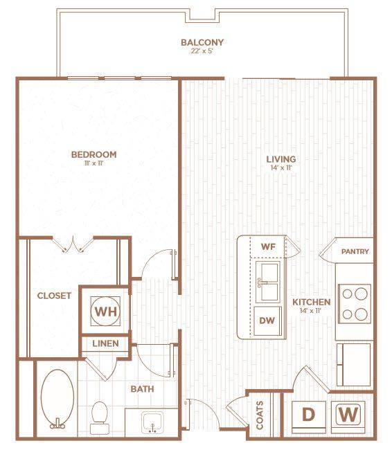 A 2D drawing of the A1D floor plan