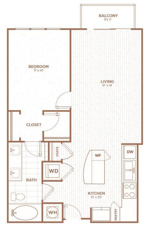 A 2D drawing of the A2D floor plan