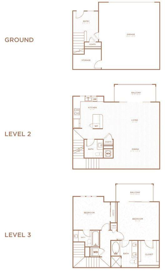 A 2D drawing of the THB floor plan