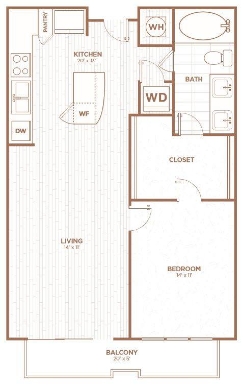 A 2D drawing of the A2A floor plan