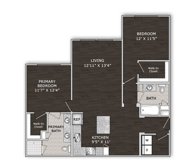 A 2D drawing of the B1S floor plan