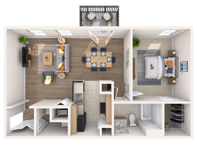 A 3D rendering of the Holly floor plan