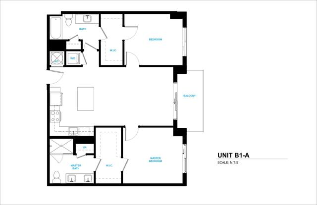 A 2D drawing of the B1A floor plan