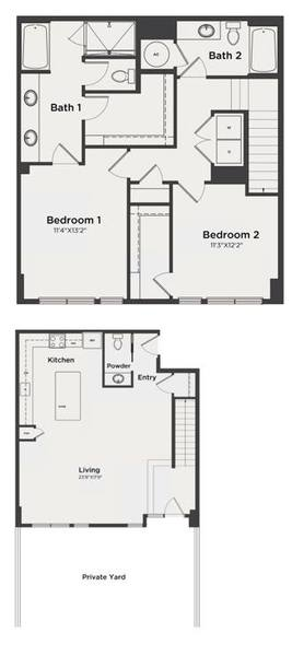 A 2D drawing of the B10 floor plan