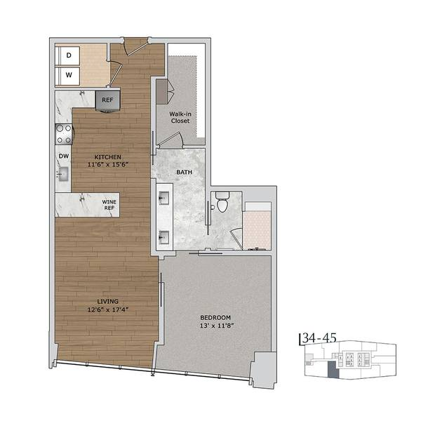 A 2D drawing of the A10 floor plan