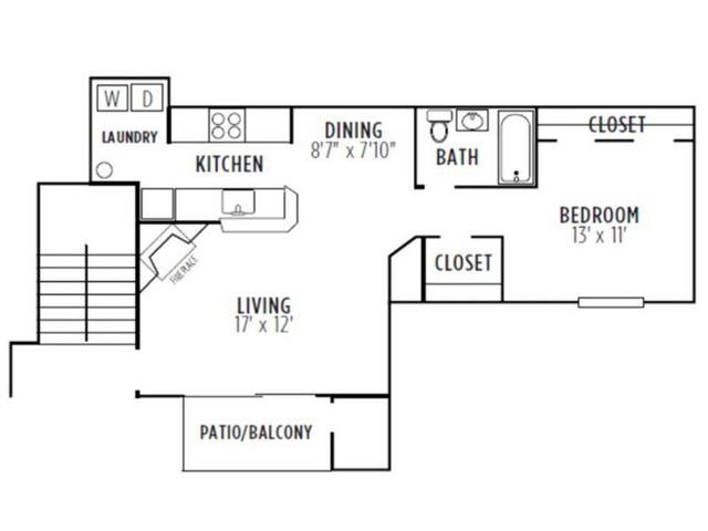 A 2D drawing of the Dogwood floor plan