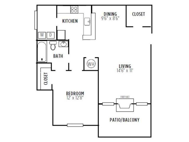 A 2D drawing of the Cambridge floor plan