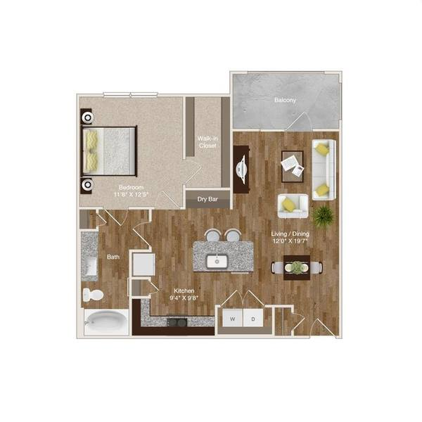A 2D drawing of the A5 floor plan