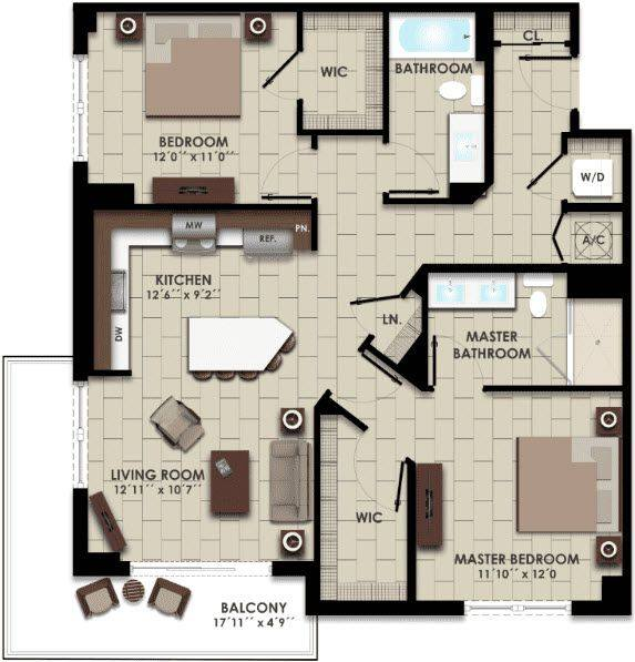 A 2D drawing of the B8 floor plan