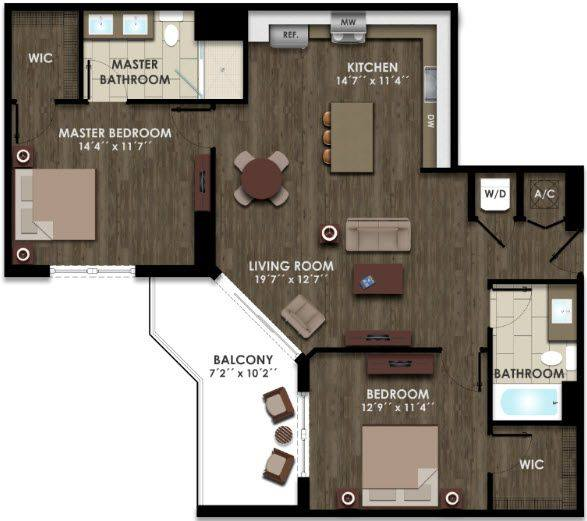 A 2D drawing of the B11 floor plan