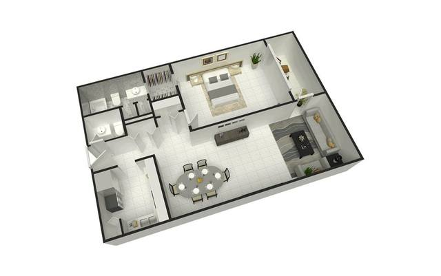 A 2D drawing of the Lantana floor plan