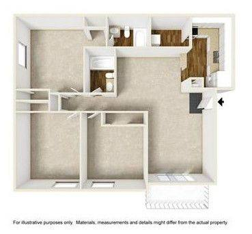 A 2D drawing of the 3x2 floor plan