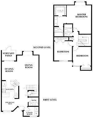 A 2D drawing of the Grand Bahama floor plan