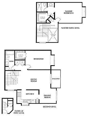 A 2D drawing of the St. Croix floor plan