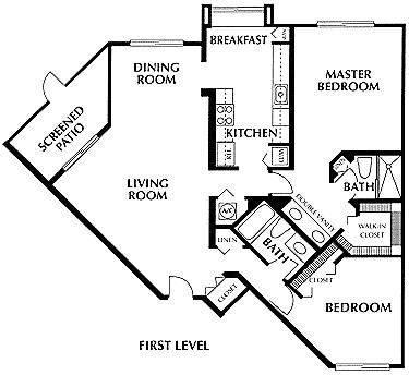 A 2D drawing of the Barbados floor plan